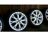 "GENUINE FORD FIESTA MK7 ZETEC S SPLIT 8 SPOKE ALLOY WHEELS 17"" 2014 SIZE: 205 / 40 / 17"