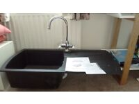 Composite Kitchen Sink and Chrome Taps ( Cooke and Lewis)