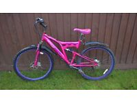 Ladies full suspension Dunlop Sport mountain bike with Disk Brakes