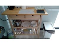 Trolley with countertop