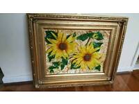 """Wall art 3D artwork and painting in antique golden frame size 18"""" x 22"""""""