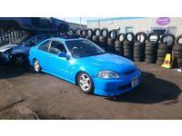 1998 Honda Civic EJ8 Vtec D16y8 Spoon Blue, Modified Project