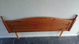 5 Foot Pine Headboard - Very Good condition