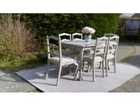Beautiful, Dining Table & 6 Chairs. Paris Grey, Shabby Chic. Delivery Available.