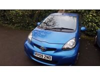 TOYOTA Aygo Blue 5dr Hatchback £3,500 ono as Quick Sale Reguired 36800miles MOT due August 2018