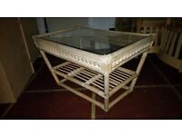 small wicker/ bamboo table for conservatory