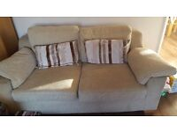 2 & 3 Seater cream sofa - free pick up only