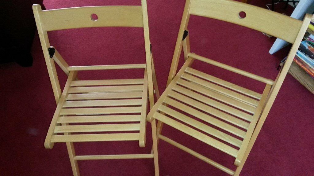 2 Ikea wooden folding/foldable chairs