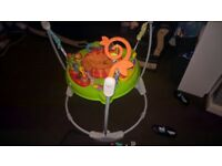 jumperoo roaring tiger fisher price 3 height levels toys r us 6months onwards