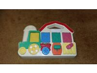 Vintage Fisher Price Tractor activity pop up learning educational toy for toddler