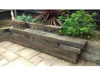 Original Wooden Railway garden Sleepers