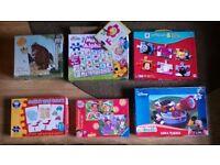 9 Jigsaw Puzzles + Mini Animal Skittles Set
