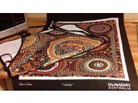 Genuine Aboriginal Indigenous Artwork Apron & Tea Towel Set 100% Cotton NEW!