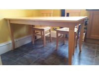"Beech Dining Table and 4 Chairs from ""The Pier"" - Extendable"