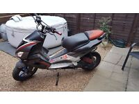 Aprilia SR50R moped for sale, has MOT, 07 plate. Has a 70 kit on it