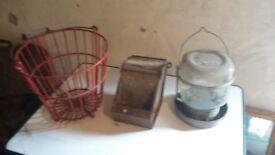 Egg Basket, Feeder, Water drinker