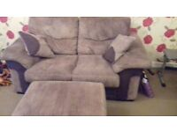 Sofa 2 seater with footstool /storage box