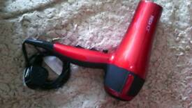 Red hot hair dryer.
