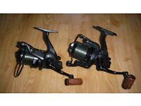 Two Penn Affinity Ltd 7000 reels large big pit carp fishing