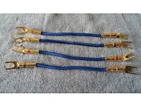 KnuKonceptz KordUltra Flex Cables x4 ,Nakamichi Spade Forks 24k Gold plated x8