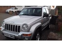 GET READY FOR WINTER ....JEEP CHEROKEE 2001 GREAT COND **OMG**NUMBER PLATE *NEW MOT ON SALE*