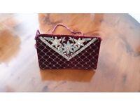Vintage Velvet Beaded Handbag