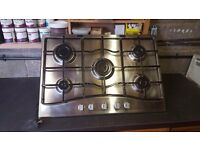 Gas hob and electric over