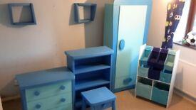 Boys blue ikea furniture set