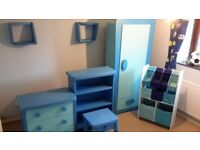 Boys blue ikea furniture set including table and chairs