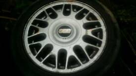 "VW BBS 4x100 15"" alloy wheels seat skoda"