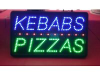 Flashing pizza sign