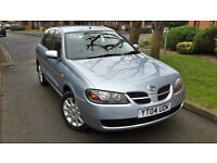 2004 NISSAN ALMERA 1.5 PETROL,VERY LOW MILEAGE,ONE OWNER,FULL NISSAN DEALER SERVICE HISTORY