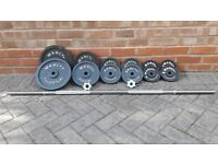 MARCY WEIGHTS SET WITH 8/9KG BARBELL