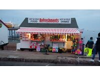 Paignton seafront, fast foods hot & cold drinks beach goods kiosk for sale serious offers invited