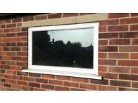 White UPVC double glazed window x2 avaliable