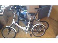 2 Folding bikes for sale