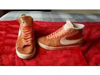 Orange Nike Blazers