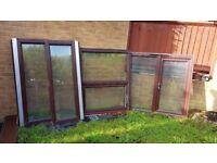 Last few remaining - Mahogany UPVC double glazed 1 main door, 1 bay window, 2 windows