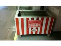 Mobile commercial fridge display