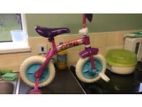 Disney Princess trainer bike