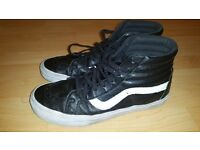 VANS Premium Leather SK8 Hi Reissue trainers Size 9.5