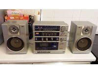 JVC PC150 GHETTO BLASTER BOOMBOX PORTABLE COMPONENT SYSTEM