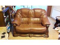 Oak Framed Leather Sofas