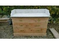 Edwardian stripped pine washstand,,dressing table,chest of drawers
