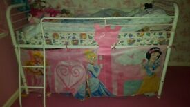 Metal cabin bed frame with tent