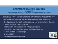 Spanish 1 day course for Beginners - Saturday 16th September - 10 - 4pm - with 3 course lunch!