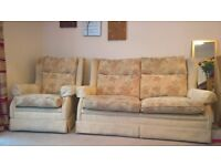 3 Seat Sofa and Armchair £70