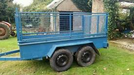 8 2 X 4 2 twin axle trailer with high mesh sides removable Cookstown