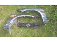 ssangyong musso 1996 pair of front wings