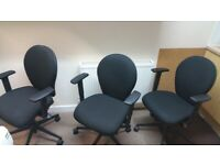 7 Black Office/meeting/computer/desk chairs fully adjustable